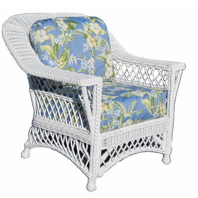 Bar Harbor Armchair Finish: White, Fabric: Freeport Summer