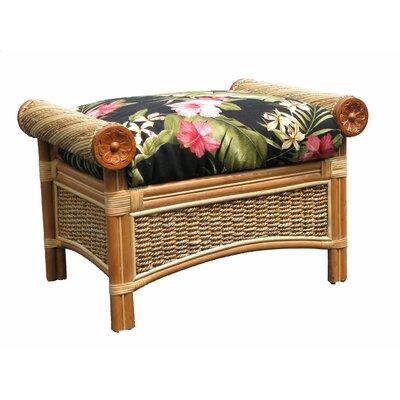 Maui Twist Ottoman Upholstery: Hamakua Ebony
