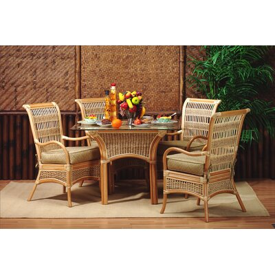 5 Piece Dining Set Fabric: Sumerset Mist