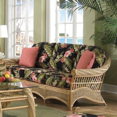 Maui Twist Sofa Upholstery: Hamakua Ebony