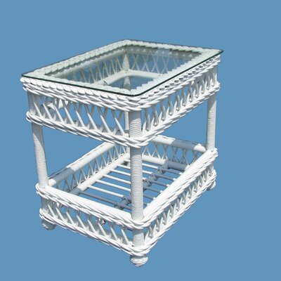 Bar Harbor End Table Color: White, Size: 18.5 D