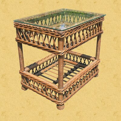 Bar Harbor End Table Color: Brownwash, Size: 18.5 D