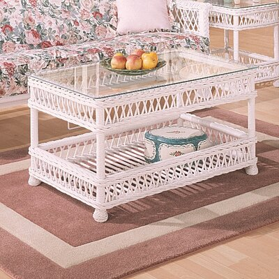 Bar Harbor Coffee Table Finish: White