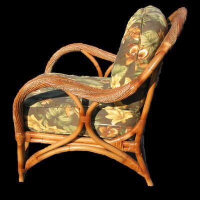 Abha Barrel Chair Body Fabric: Garden Scroll