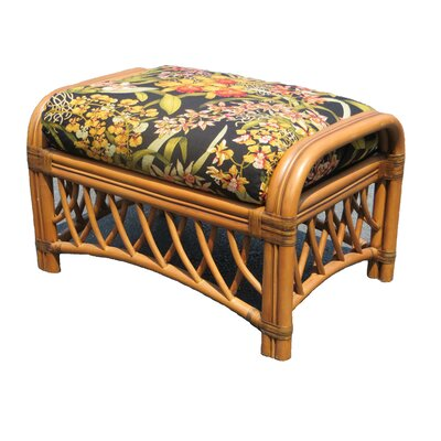 Montego Bay Ottoman Upholstery: Wild Orchid Black