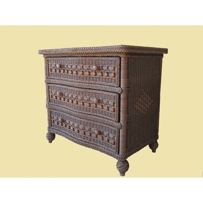 Classic 3 Drawer Dresser Color: Brownwash