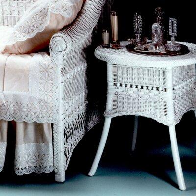End Table Finish: Whitewash, Size: 19