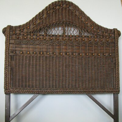 Classic Panel Headboard Size: Twin, Finish: Brownwash
