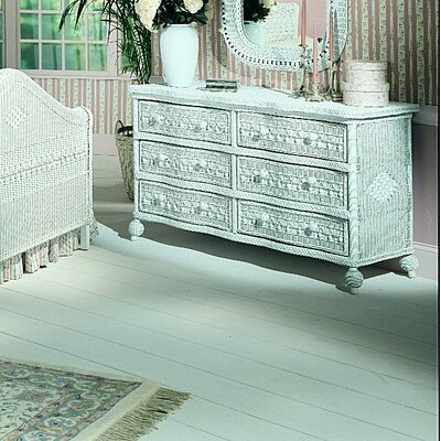 Classic 6 Drawer Double Dresser with Mirror