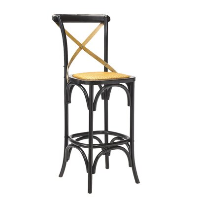 Bosquet Bar Stool Finish: Black