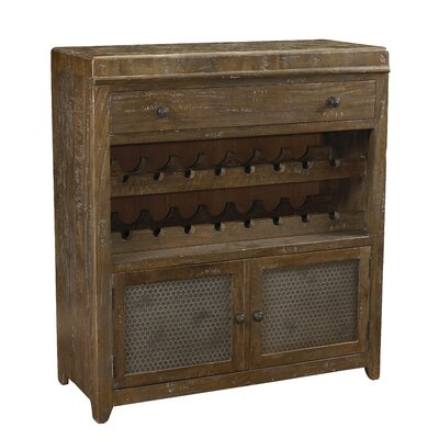 French Accents 16 Bottle Floor Wine Cabinet Finish: Antique Iron