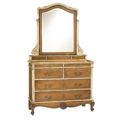 Lilles 9 Drawer Dresser with Mirror