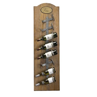 French Accents 8 Bottle Wall Mounted Wine Rack Finish: Natural