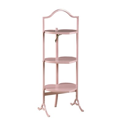 Small Heart-Shaped Folding End Table Finish: Pink