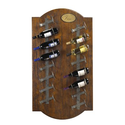 Belfield 16 Bottle Wall Mounted Wine Rack Color: Coffee Brown