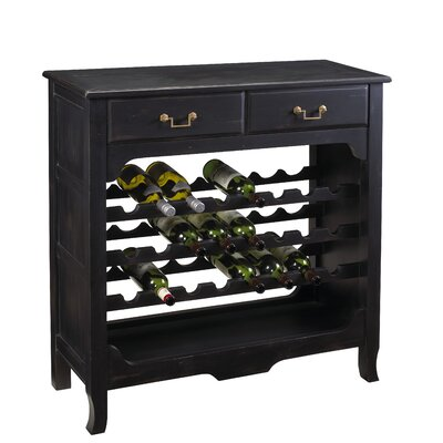 French Accents Merlot 24 Bottle Floor Wine Cabinet Finish: Black
