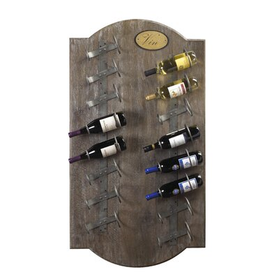 French Accents 16 Bottle Wall Mounted Wine Rack Finish: Taupe Brown