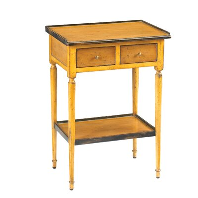 Furniture-Accent End Table Finish Yellow