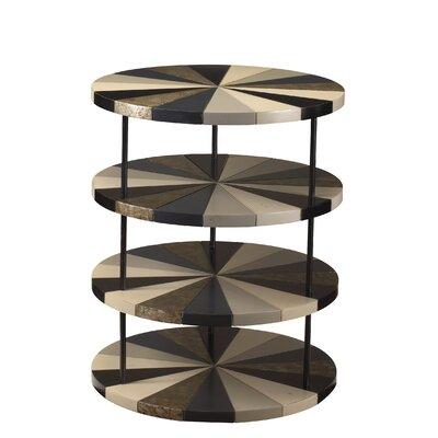 Coben Poiroux End Table Color: Black / Grey / White