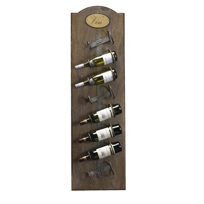 French Accents 8 Bottle Wall Mounted Wine Rack Finish: Brown Timberwood