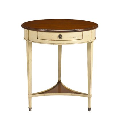 French Accents End Table Finish: Light Cherry / Ivory