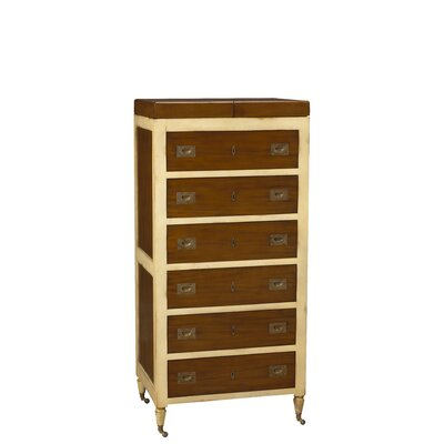 Felix 6 Drawer Lingerie Chest with Mirror Color: Light / Ivory