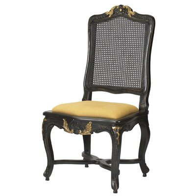 Passy Side Chair Finish: Black / Gold
