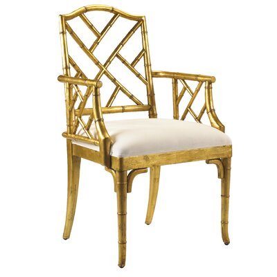 Eastridge Solid Wood Dining Chair Color: Gold