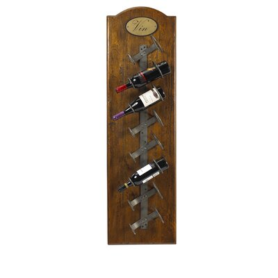 French Accents 8 Bottle Wall Mounted Wine Rack Finish: Coffee Brown