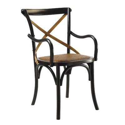 Bosquet Solid Wood Dining Chair Finish: Black