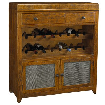 French Accents 16 Bottle Floor Wine Cabinet Finish: Rustic Coffee Brown