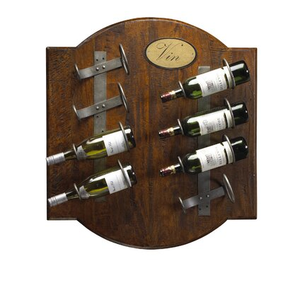 French Accents 8 Bottle Wall Mounted Wine Rack