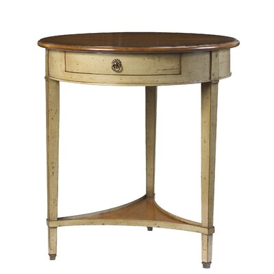 Janvier End Table with Storage Color: Cherry / Gray