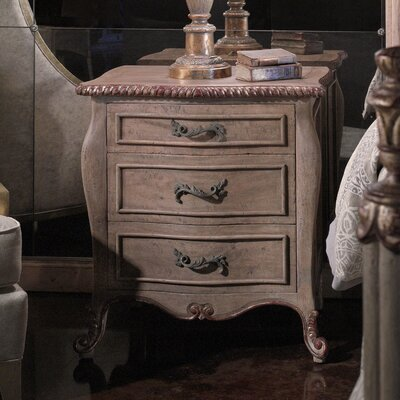 Leonia 3 Drawer Nightstand