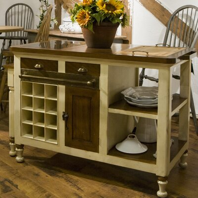 Eastep Kitchen Island Base Color: Ivory