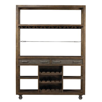 Lore Hudson Bar with Wine Storage Color: Timberwood