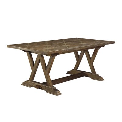 Loranger Cordoba Parquetry Dining Table Size: 30 H x 76 W x 39 D
