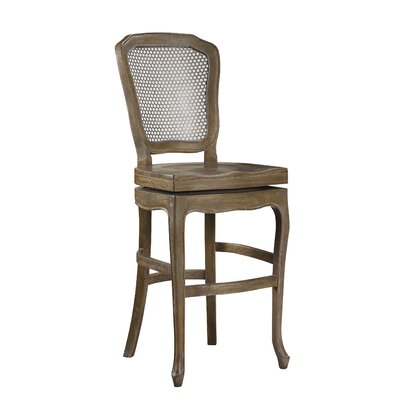 Chevernay 30 Swivel Bar Stool Finish: Timberwood