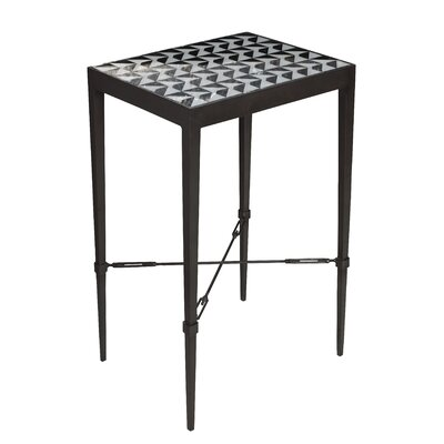 Geometric Mosaic End Table Finish: Black
