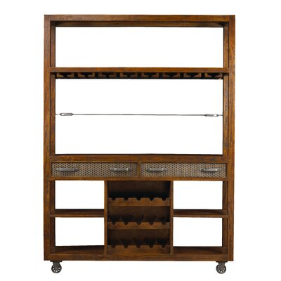 Hudson Bar with Wine Storage Finish: Coffee Brown