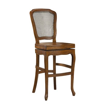 Chevernay 30 Swivel Bar Stool Finish: Coffee Brown
