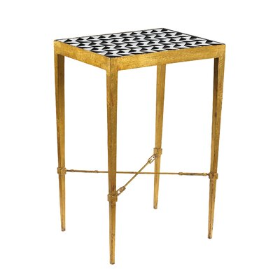 Geometric Mosaic End Table Finish: Gold