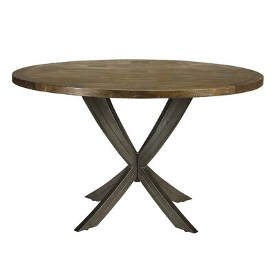 Clardy Castello X Leg Inlay Top Round Dining Table