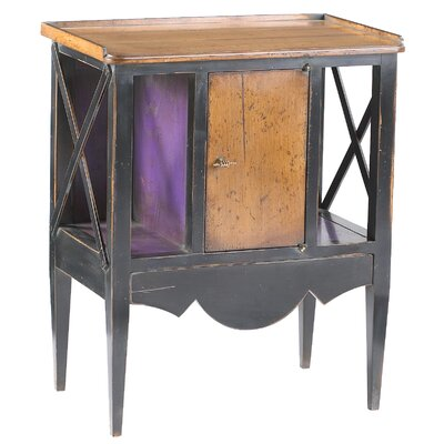 Eastep Tray Table Color: Black / Violet