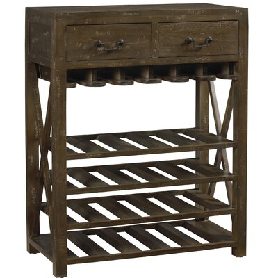 French Accents 20 Bottle Floor Wine Rack Finish: Timberwood