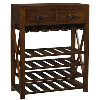 French Accents 20 Bottle Floor Wine Rack Finish: Coffee Brown