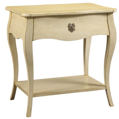 Juniata 1 Drawer Nightstand Color: Ivory
