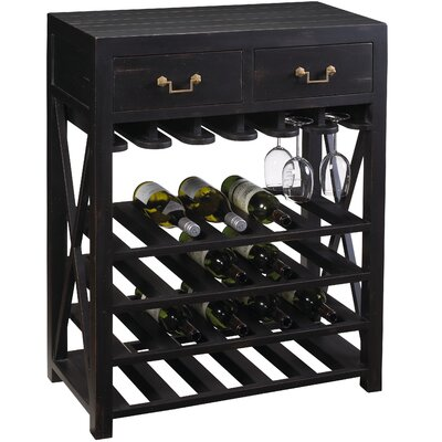 French Accents 20 Bottle Floor Wine Rack Finish: Black