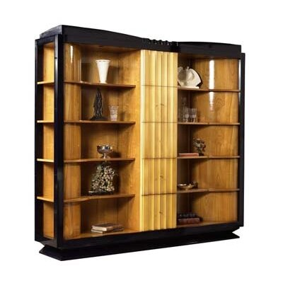 Italian Art Deco Oversized Set Bookcase Ebeling Product Image 98