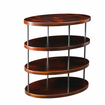Eberhard End Table Color: Black/Antique Cherry